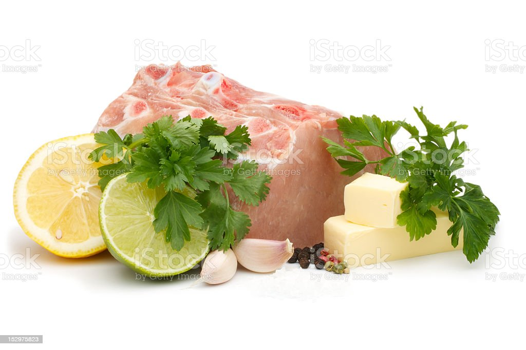 Set for cooking chops royalty-free stock photo