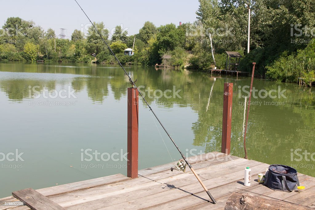 Set for fishing stock photo