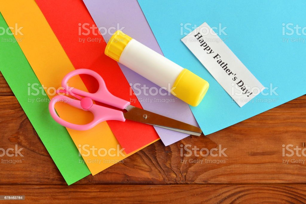Set for greeting card father's day stock photo