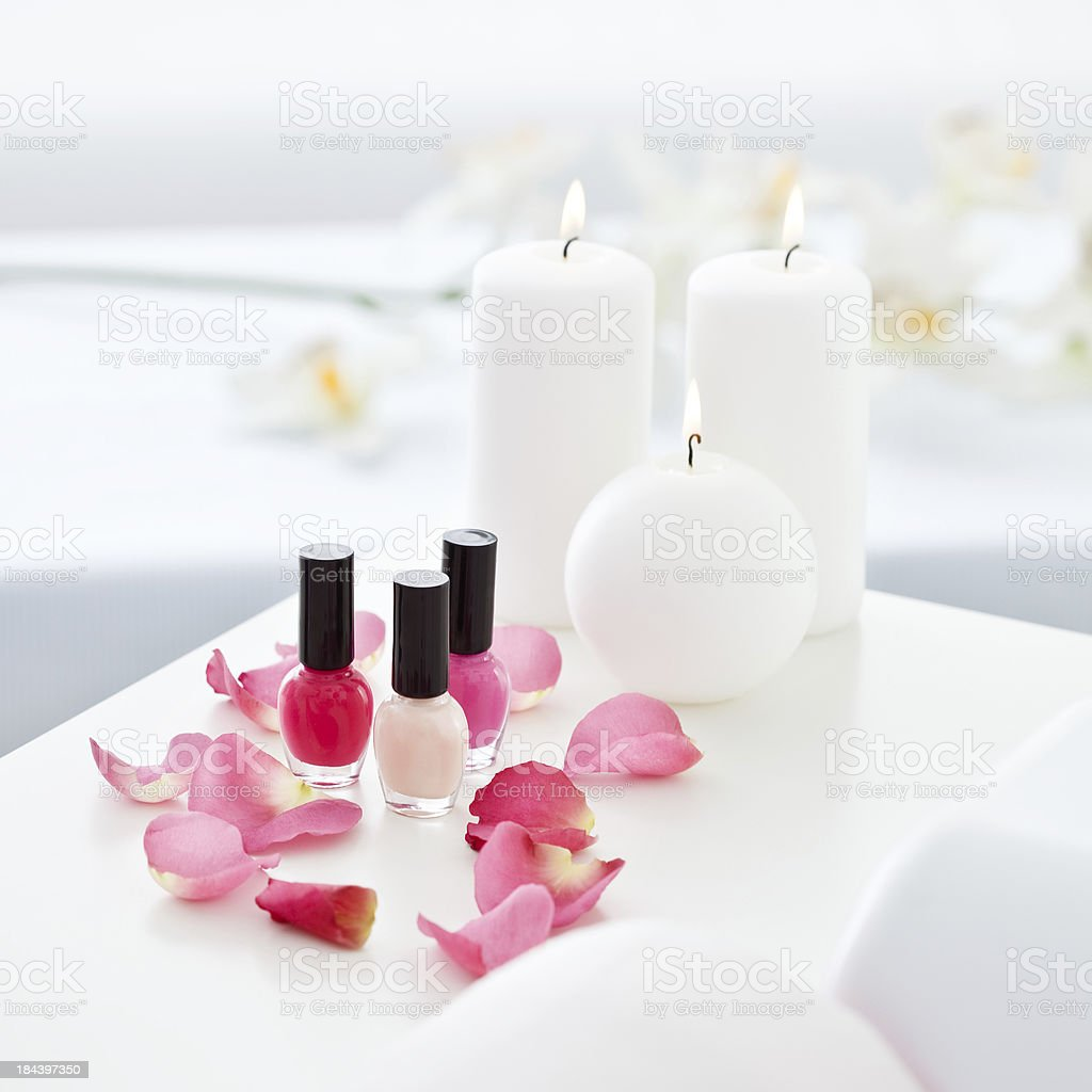 Set for hands spa royalty-free stock photo