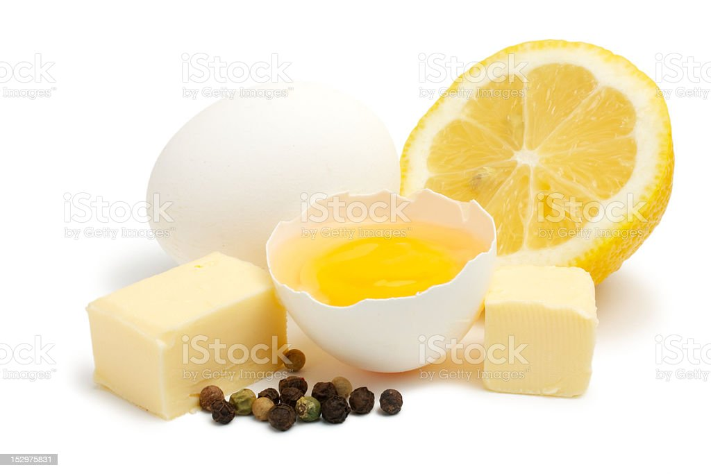 Set for Hollandaise Sauce stock photo