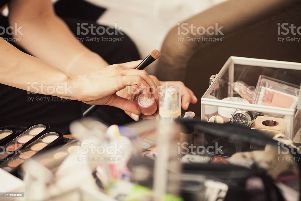 Set for make-up stock photo