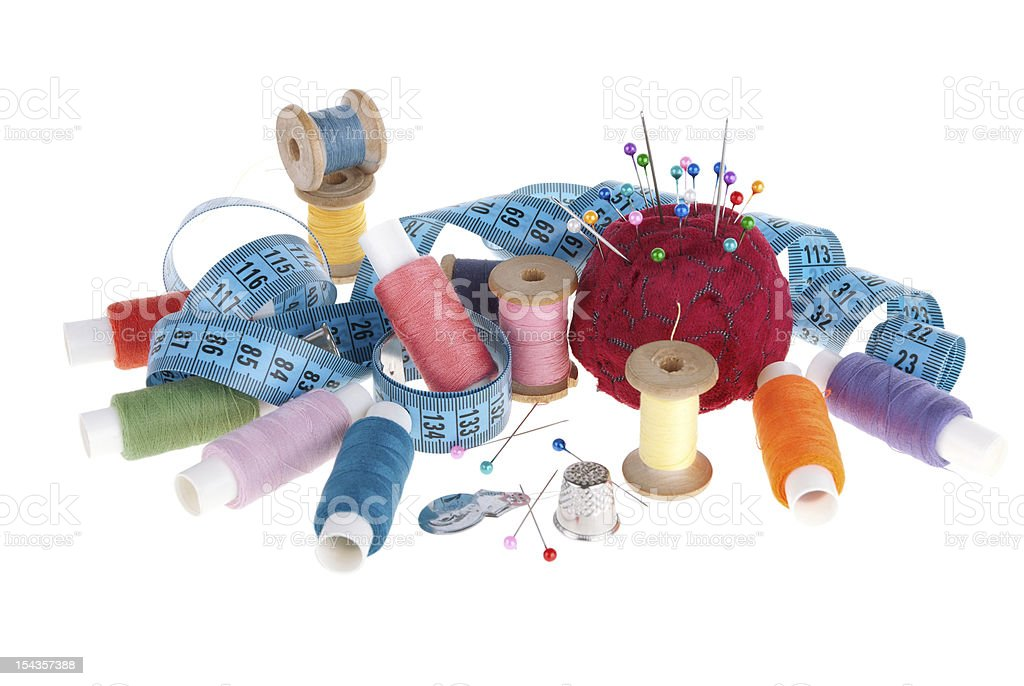 Set for sewing royalty-free stock photo
