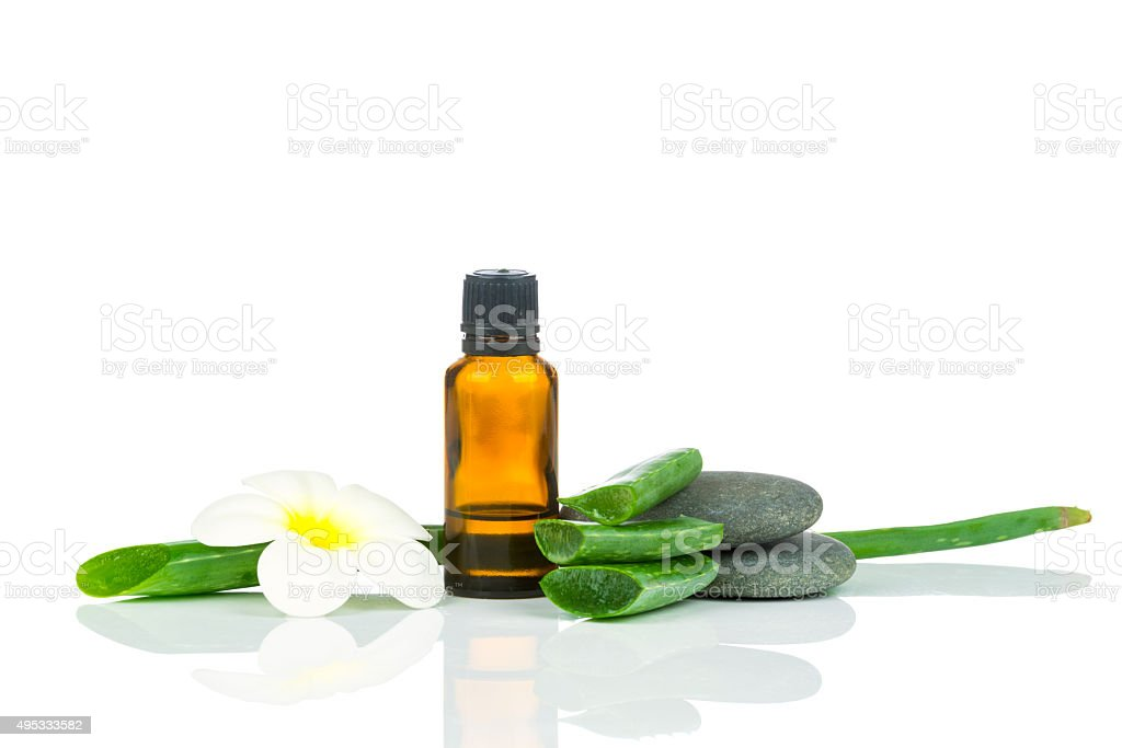 Set for spa treatment stock photo