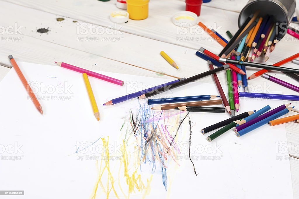 Set for the artist royalty-free stock photo