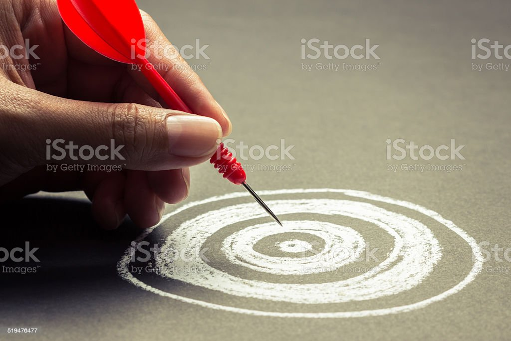 Set goal stock photo