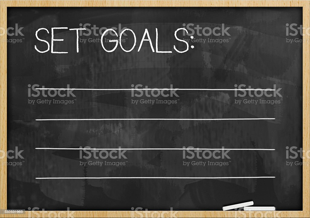 Set goals / Blackboard concept (Click for more) stock photo