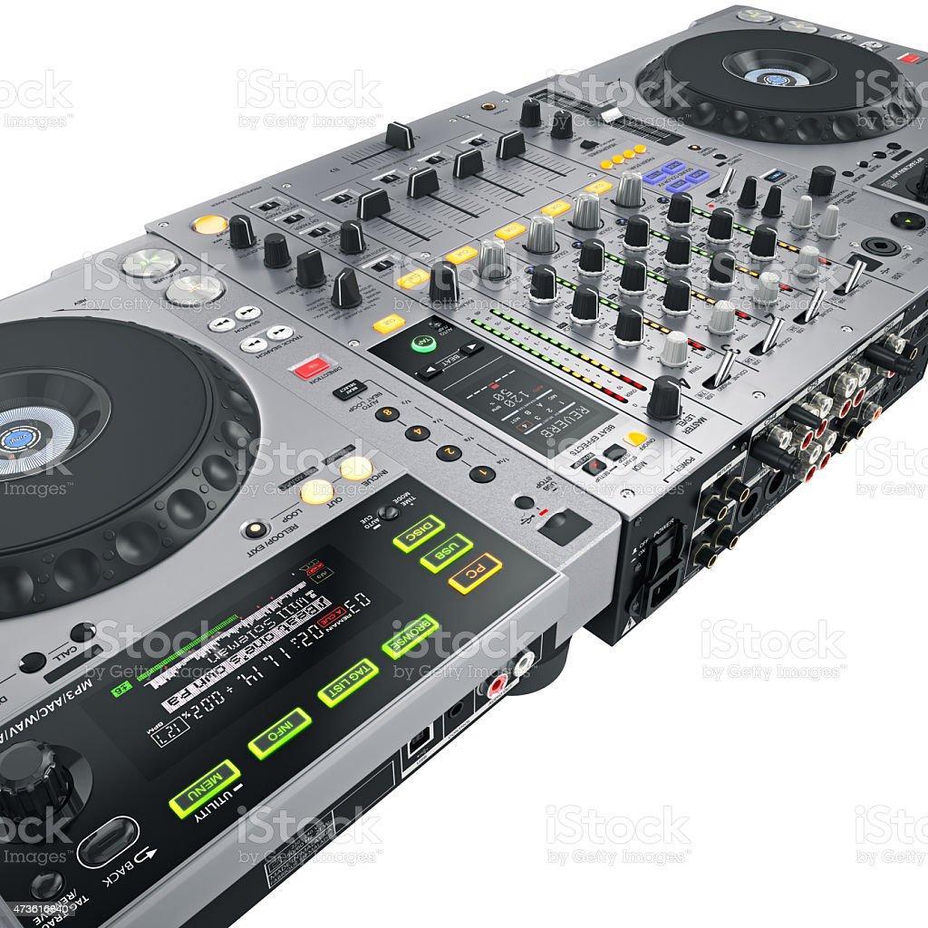 DJ set gray stock photo