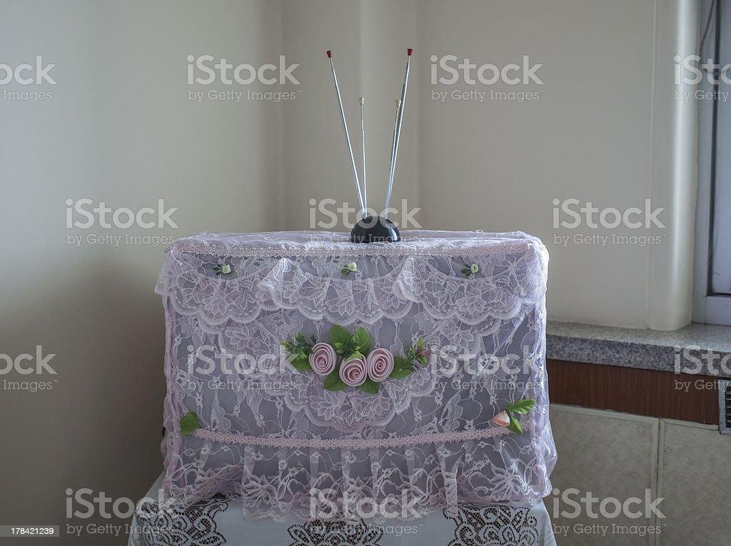 TV set in North Korea stock photo