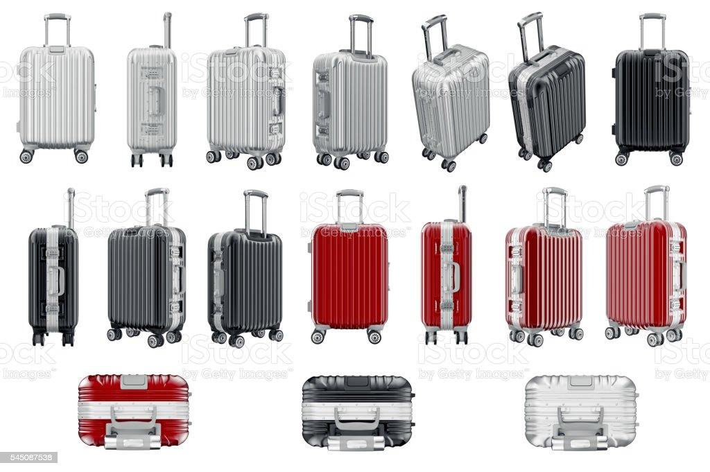 Set luggage travel stock photo
