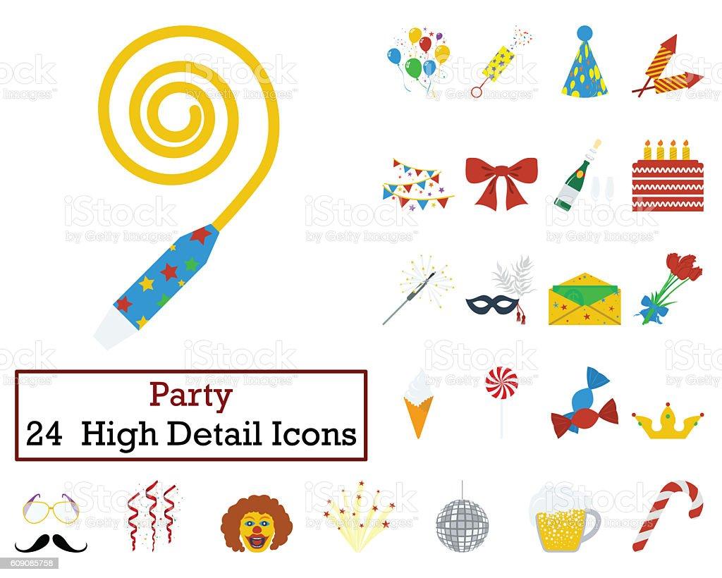 Set of 24 Celebration Icons stock photo