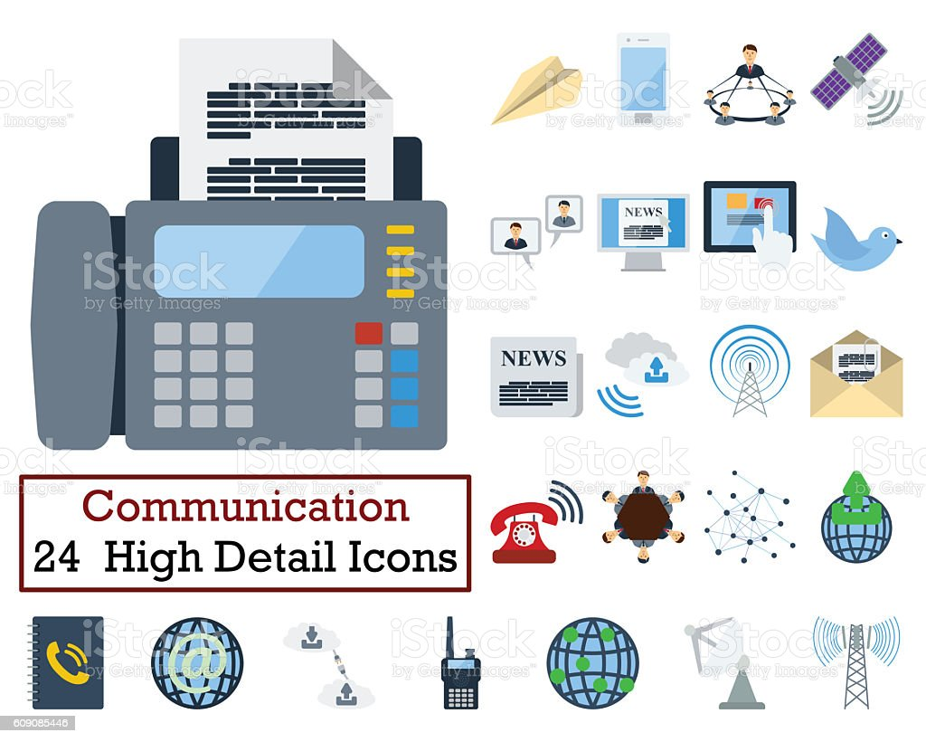 Set of 24 Communication Icons stock photo