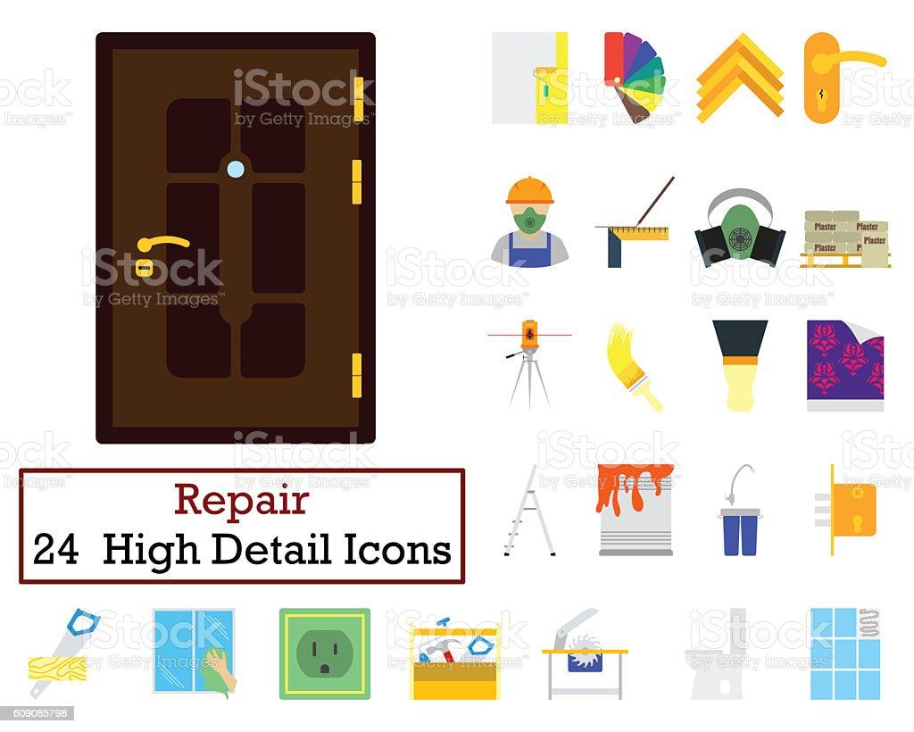 Set of 24 Housing repairs Icons stock photo