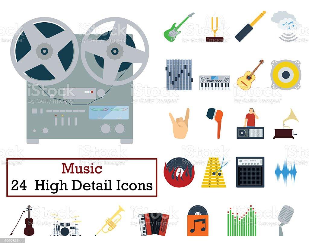 Set of 24 Music Icons stock photo