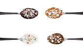 set of 4 peppermint chocolate spoons
