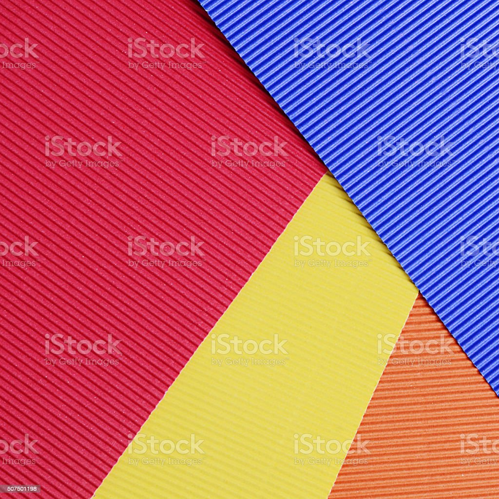 Set of a color crepe paper close up stock photo