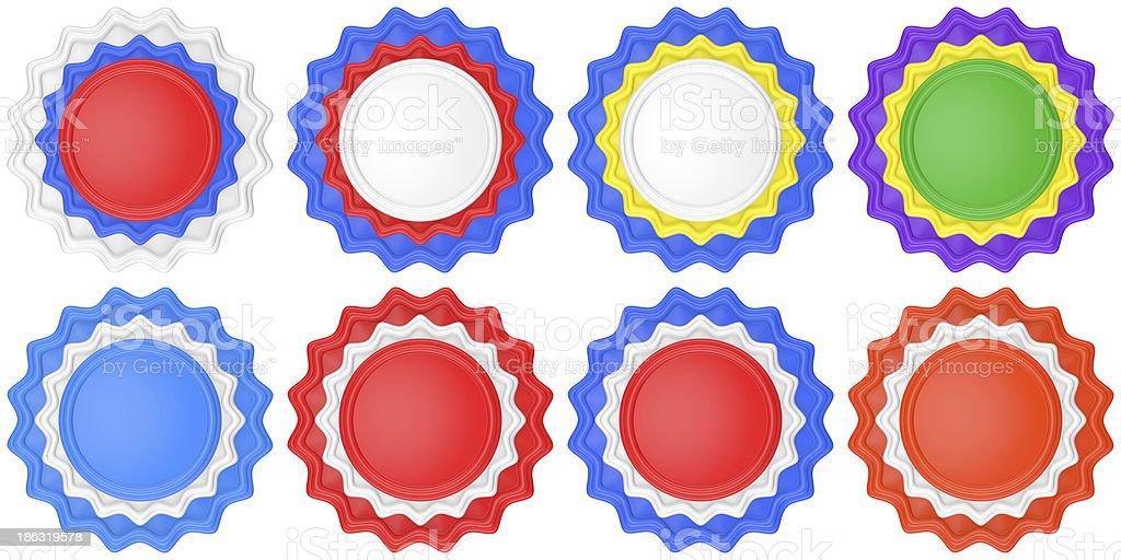 Set of abstract circle labels royalty-free stock photo