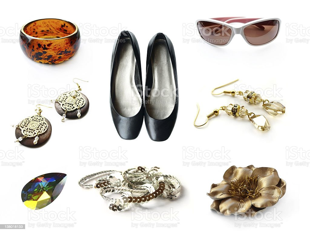 Set of Accessories royalty-free stock photo