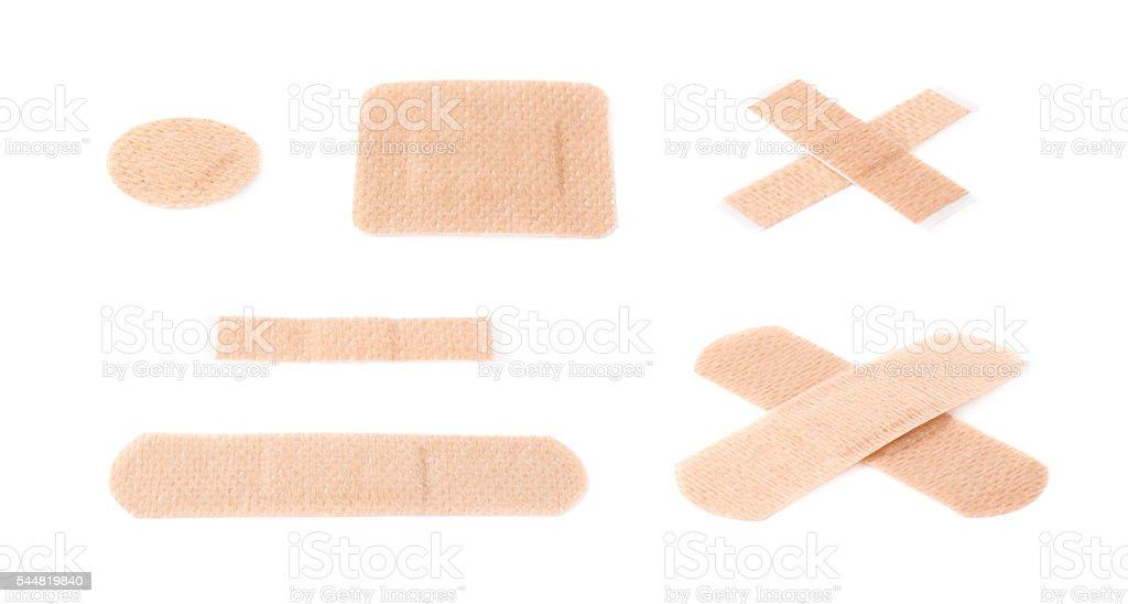 Set of adhesive bandage sticking plasters stock photo