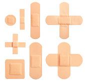 Set of adhesive plasters