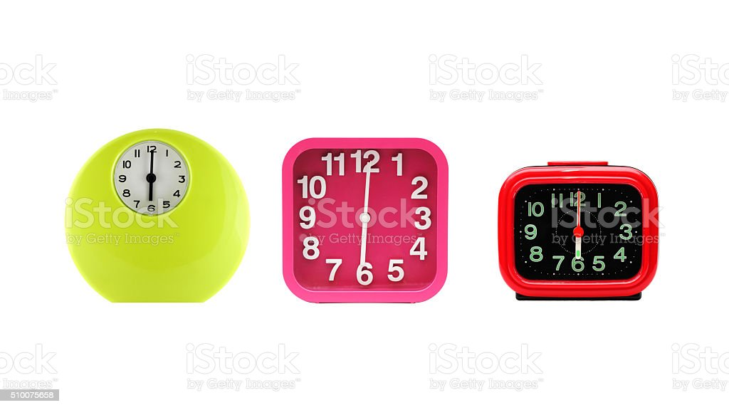 Set of alarm clock. stock photo