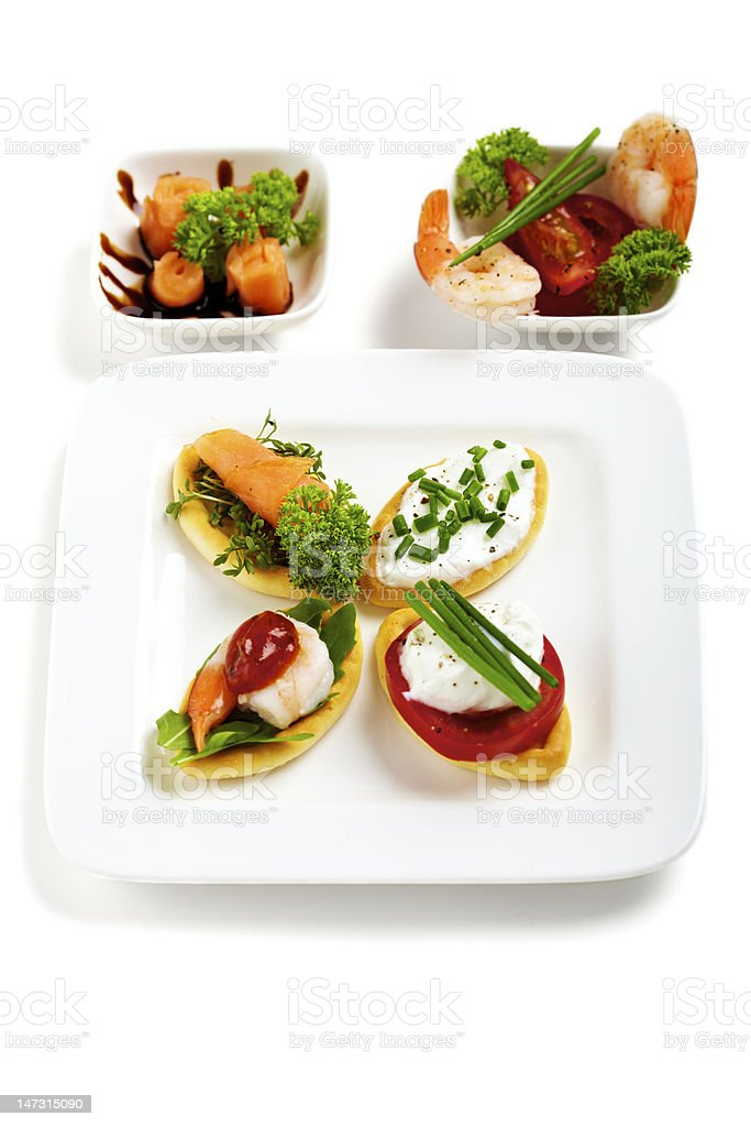 Set of appetizer / Antipasti stock photo