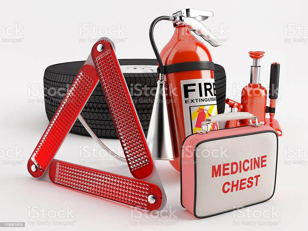 Set of basic necessities stock photo