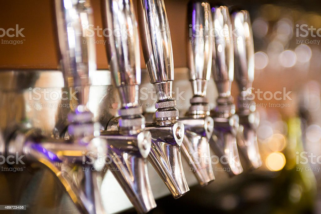 Set of Beer / Wine Taps stock photo