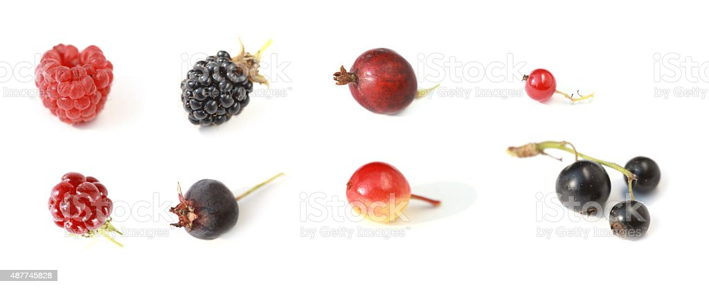 Set of berries a white background stock photo