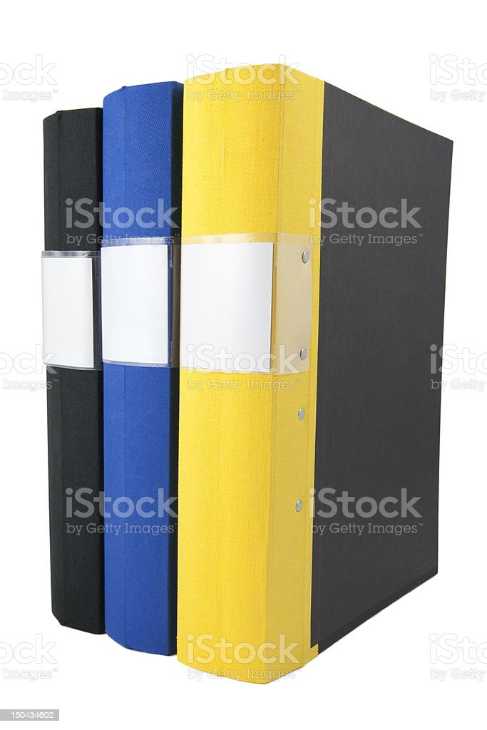 Set of binders royalty-free stock photo