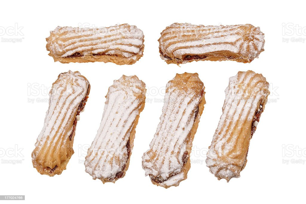 set of biscuits with jam royalty-free stock photo