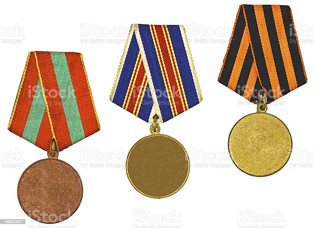set of blank medals royalty-free stock photo