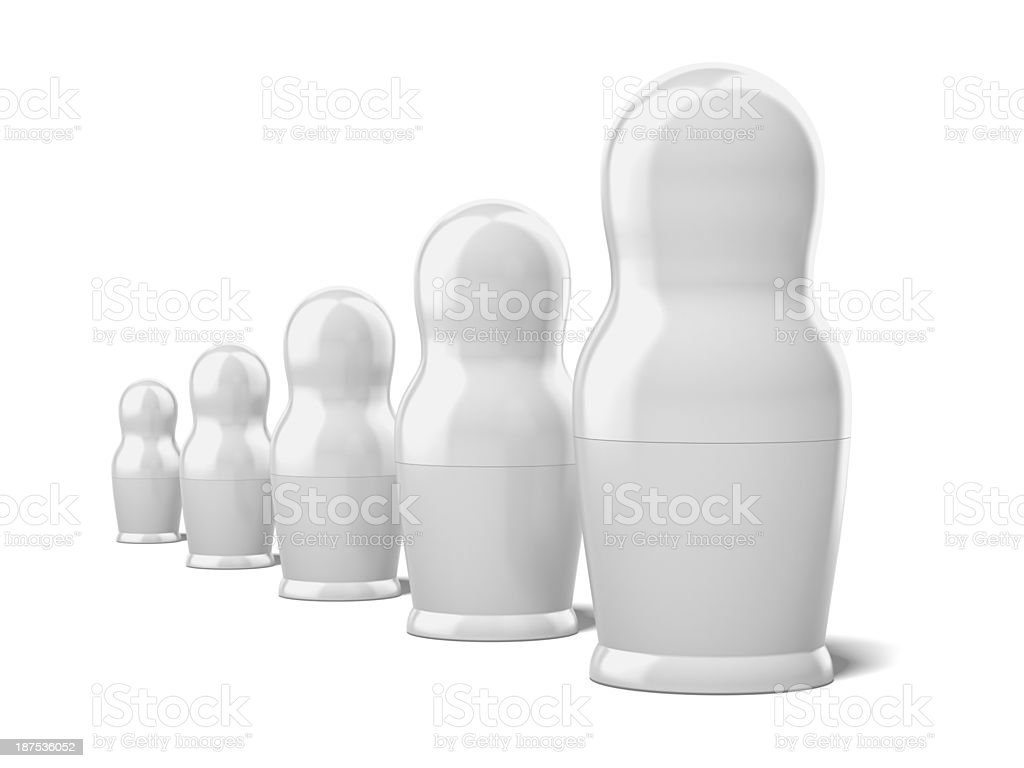 set of blank white dolls royalty-free stock photo