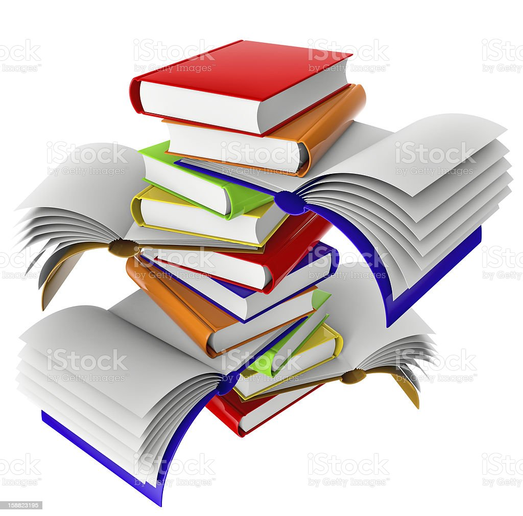 Set of books royalty-free stock photo