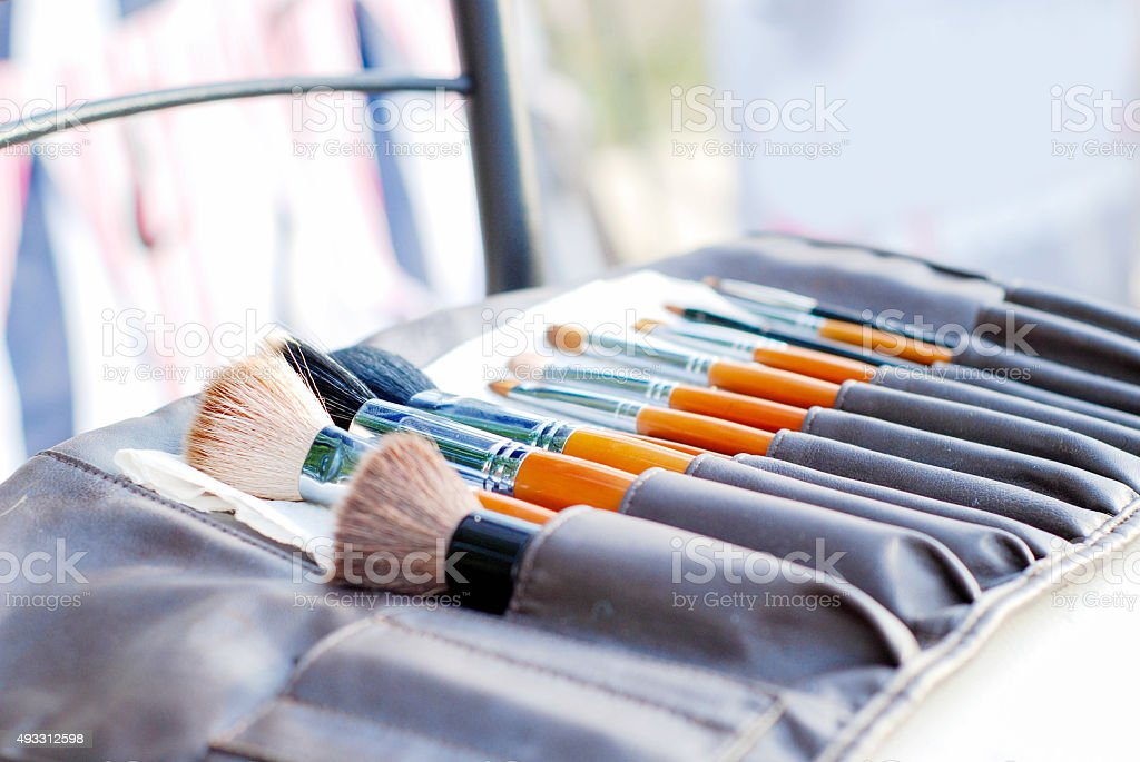 set of brushes stock photo