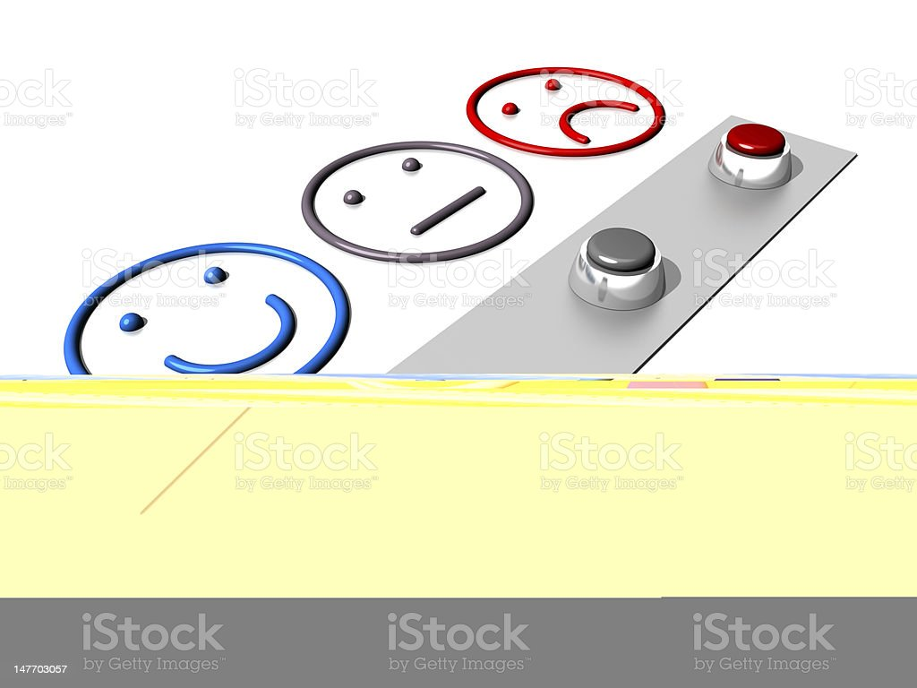 Set of buttons and emoticons on white background stock photo