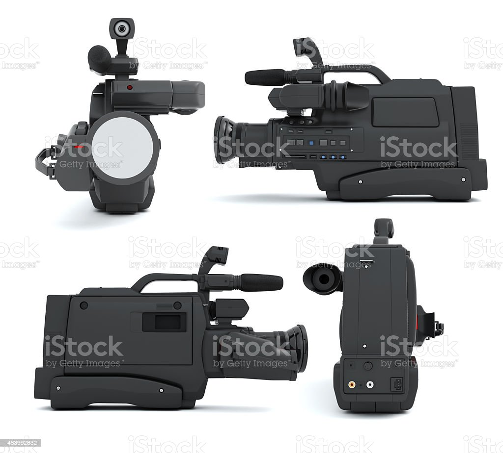 Set of camcoder on a white stock photo