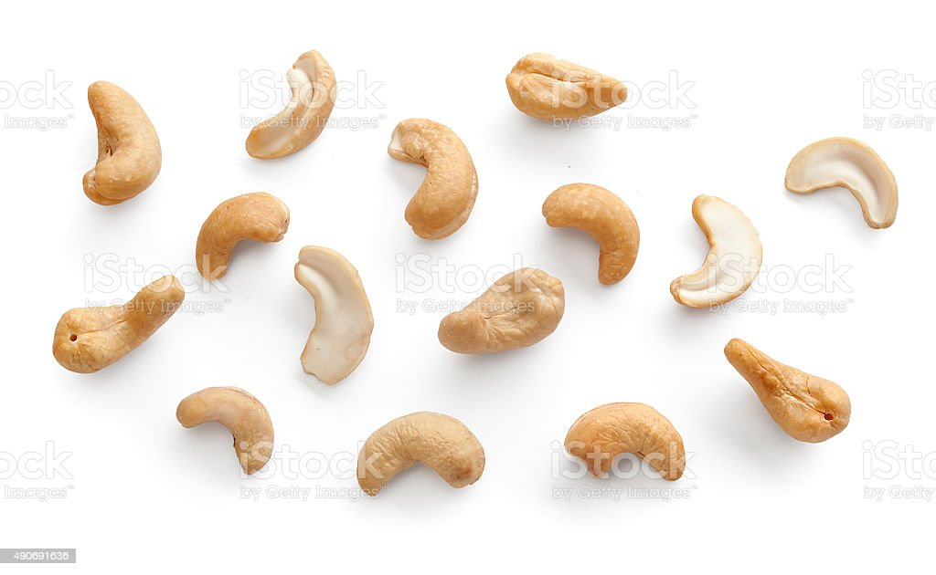 Set of cashew stock photo