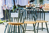 Set of chairs at a yard sale