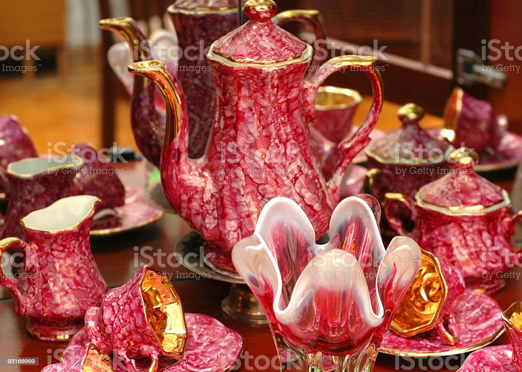 Set of chinaware royalty-free stock photo