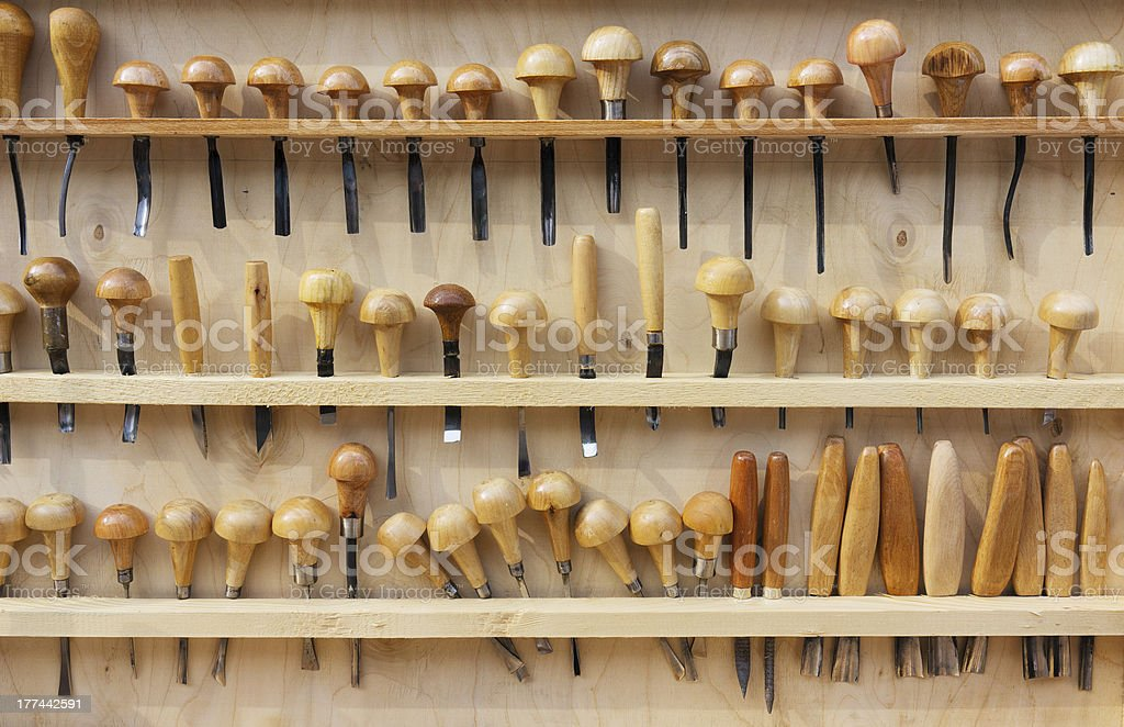 Set of chisels royalty-free stock photo