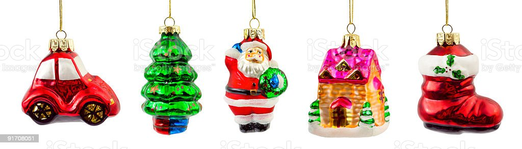 Set of christmas decorations royalty-free stock photo
