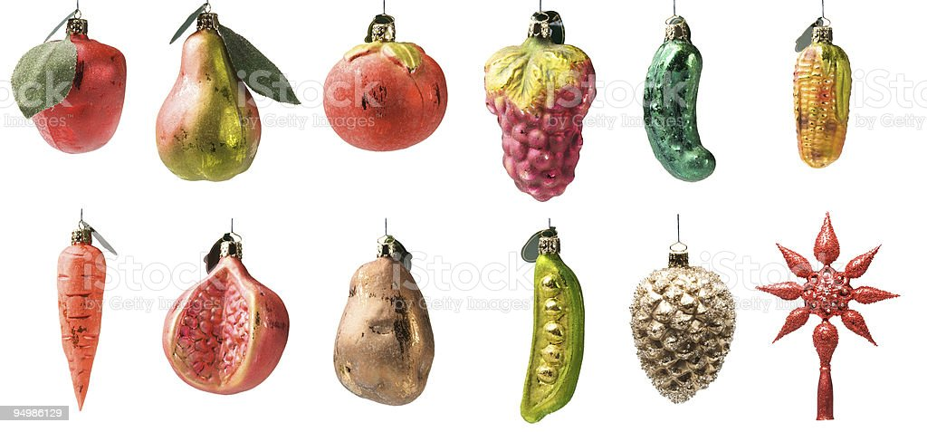 Set of christmas toys royalty-free stock photo