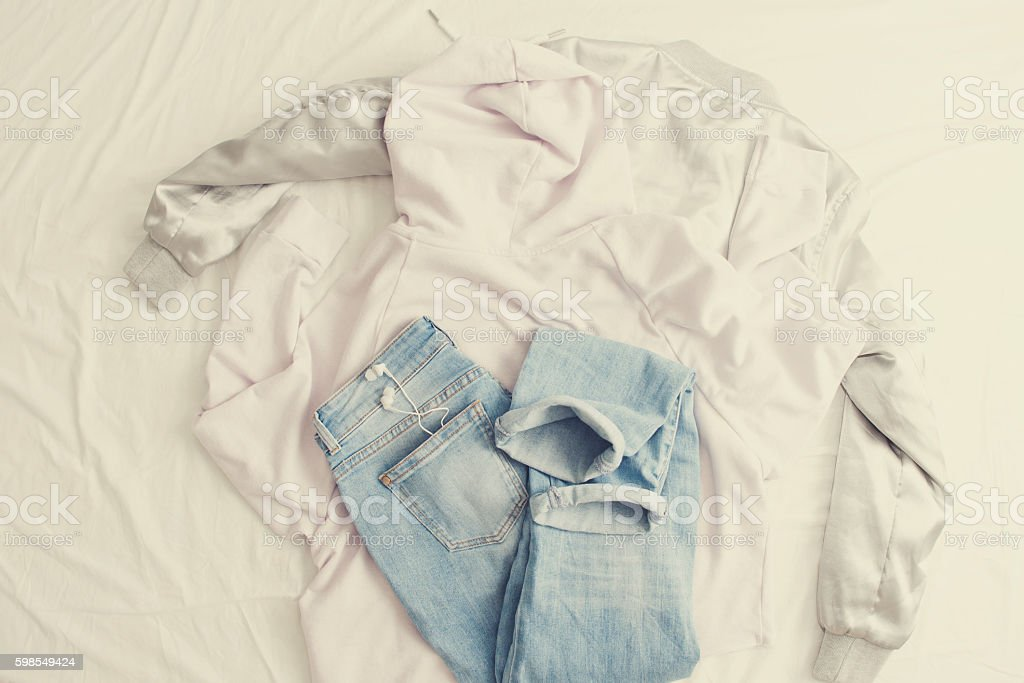 Set of clothes. stock photo