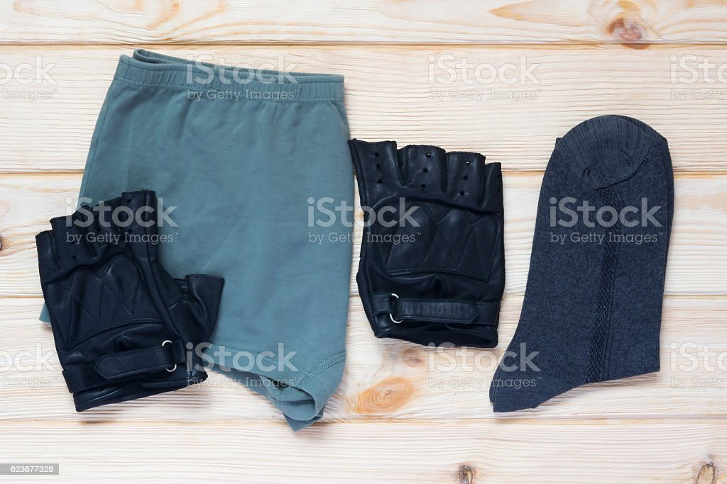 set of clothing for mens limbs stock photo