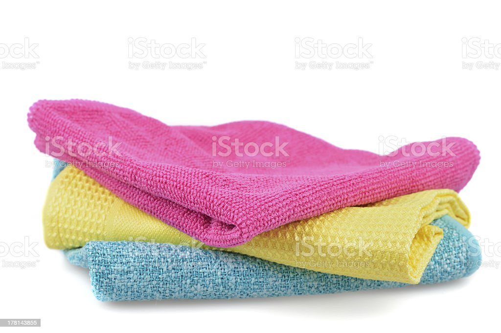Set of cloths microfiber isolated on white royalty-free stock photo