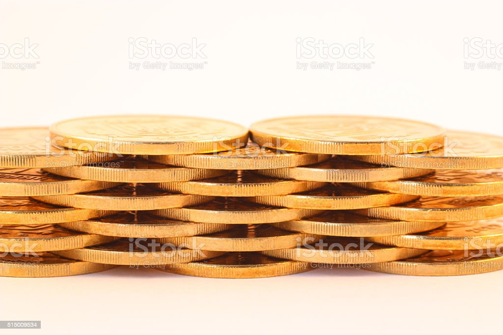 Set of coins royalty-free stock photo