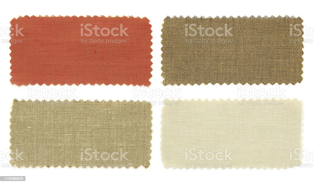set of color fabric sample royalty-free stock photo