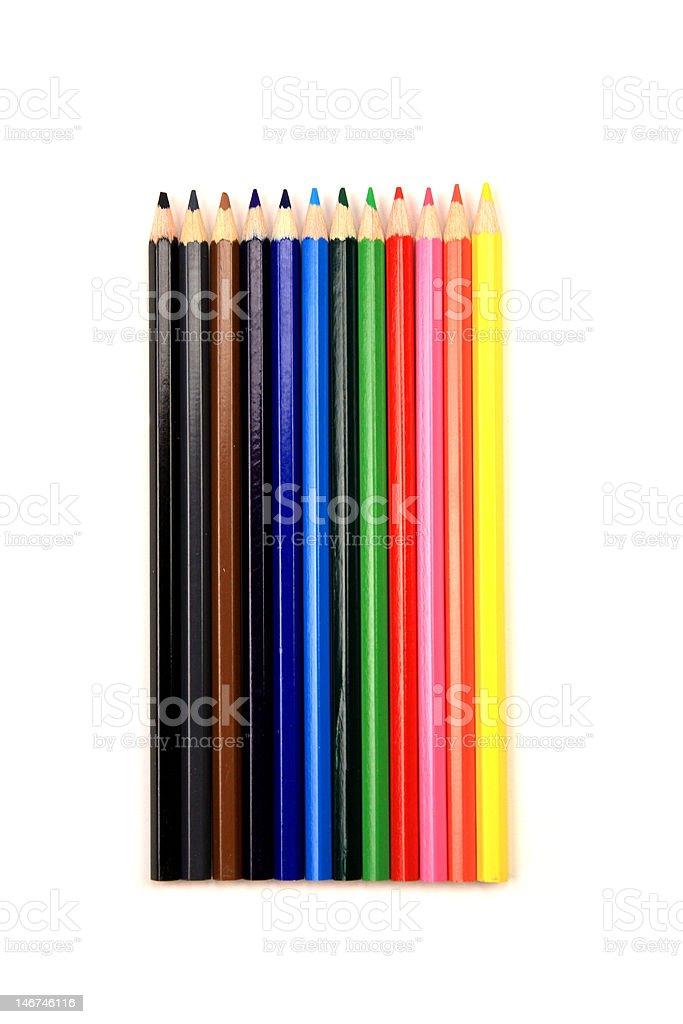Satz von bunte Bleistifte Lizenzfreies stock-foto