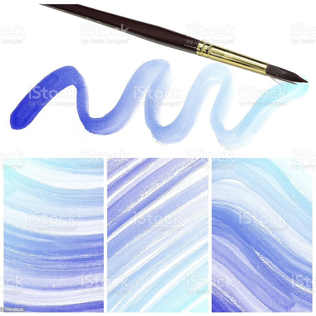 Set of colorful Abstract water color painting background royalty-free stock photo